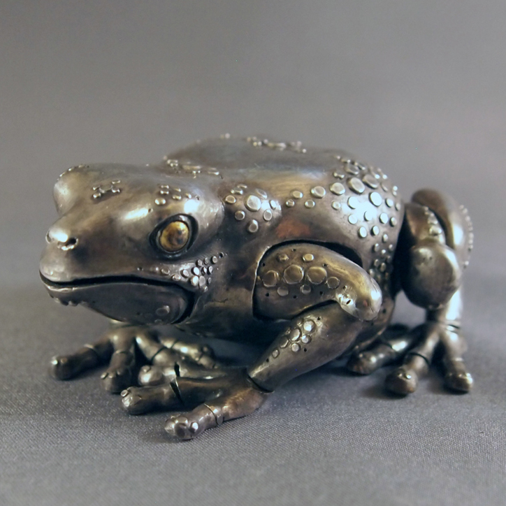 Sterling Silver Articulated Frog