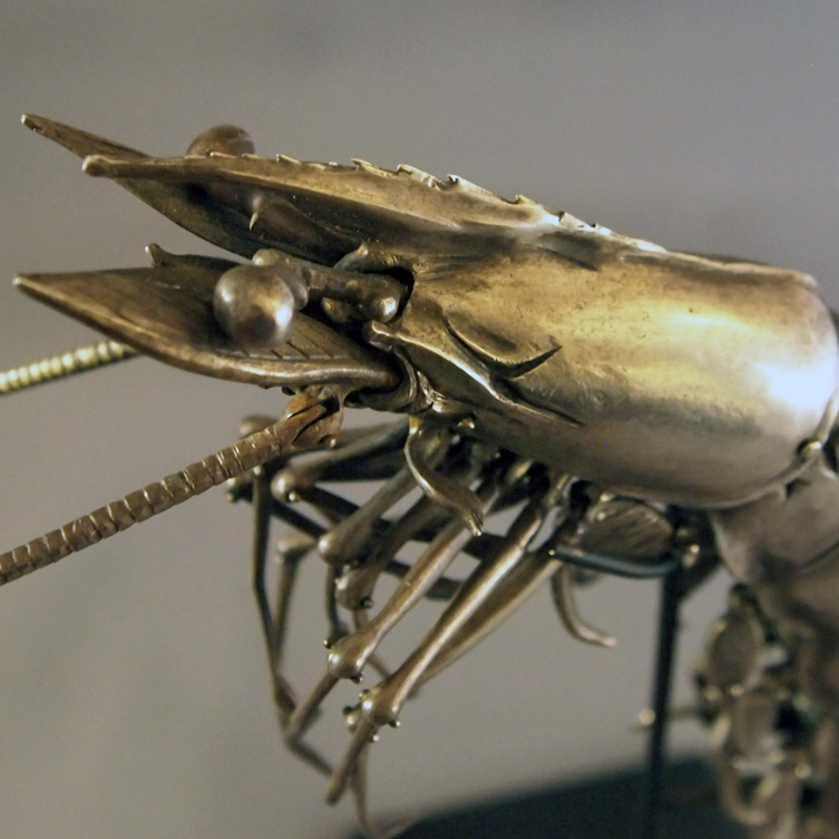 Sterling Silver Articulated Shrimp