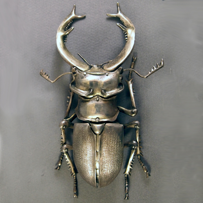Sterling Silver Articulated Staghorn Beetle